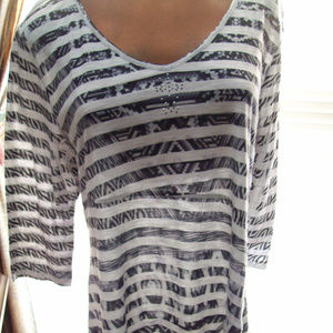 WOMEN TUNIC TOP NEW DIRECTION  SIZE L